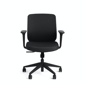Black Max Task Chair, Mid Back, Black Frame,,hi-res