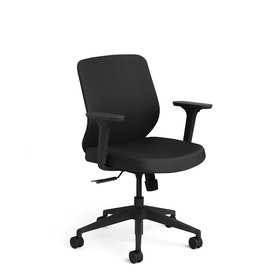 Black Max Task Chair, Mid Back, Black Frame
