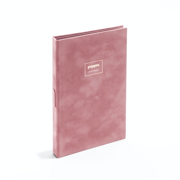 Dusty Rose Velvet Medium Padfolio with Writing Pad,Dusty Rose,hi-res