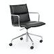 Black Meredith Meeting Chair, Mid Back,Black,hi-res