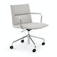 Light Gray Meredith Meeting Chair, Mid Back ,Light Gray,hi-res