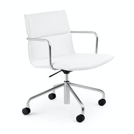 Meredith Meeting Chair, Mid Back,White,hi-res