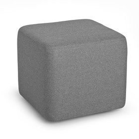Gray Block Party Lounge Ottoman