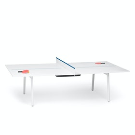 White + Slate Blue Series A Ping-Pong Conference Table,Slate Blue,hi-res