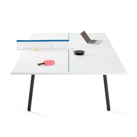 White + Slate Blue Series A Ping-Pong Conference Table