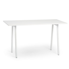 "Series A Standing Table, White, 72x36"", White Legs"