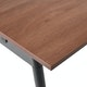 "Series A Double Desk for 6, Walnut, 47"", Charcoal Legs,Walnut,hi-res"