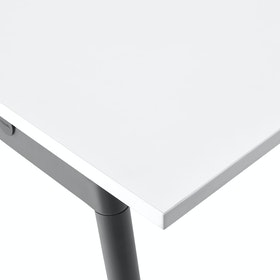 "Series A Conference Table, White, 144x36"", Charcoal Legs,White,hi-res"