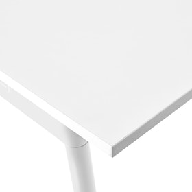 "Series A Conference Table, White, 144x36"", White Legs"