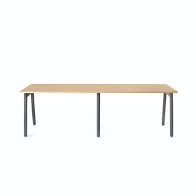 Series A Single Desk for 2, Charcoal Legs