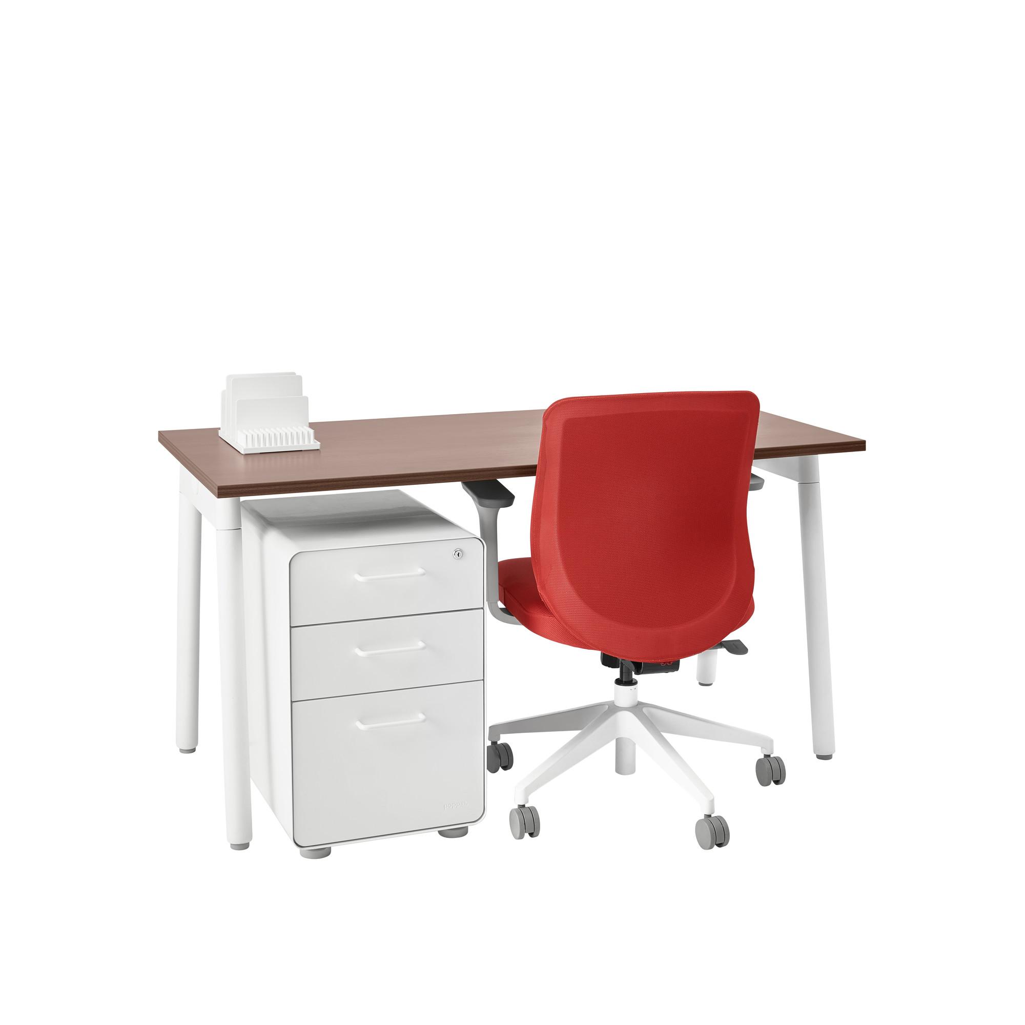 Walnut office furniture Desk Wire Management Series Single Desk For 1 Walnut 57 Neweggcom Series Single Desk For 1 57