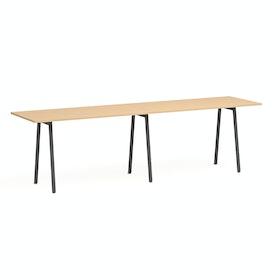 """Series A Standing Table, Natural Oak, 144x36"""", Charcoal Legs,Natural Oak,hi-res"""