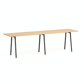 "Series A Standing Table, Natural Oak, 144x36"", Charcoal Legs,Natural Oak,hi-res"