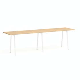 "Series A Standing Table, Natural Oak, 144x36"", White Legs,Natural Oak,hi-res"