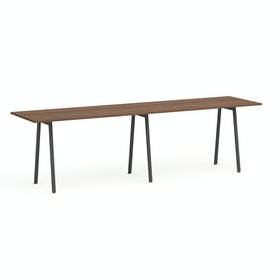 "Series A Standing Table, Walnut, 144x36"", Charcoal Legs,Walnut,hi-res"