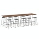 "Series A Standing Table, Walnut, 144x36"", White Legs,Walnut,hi-res"