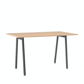 "Series A Standing Table, Natural Oak, 72x36"", Charcoal Legs"