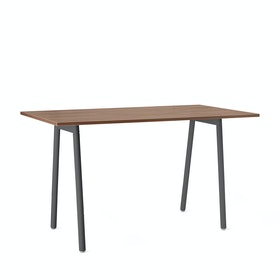 "Series A Standing Table, Walnut, 72x36"", Charcoal Legs"