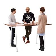 "Series A Standing Table, Walnut, 72x36"", White Legs,Walnut,hi-res"