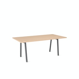 "Series A Conference Table, Natural Oak, 72x36"", Charcoal Legs"