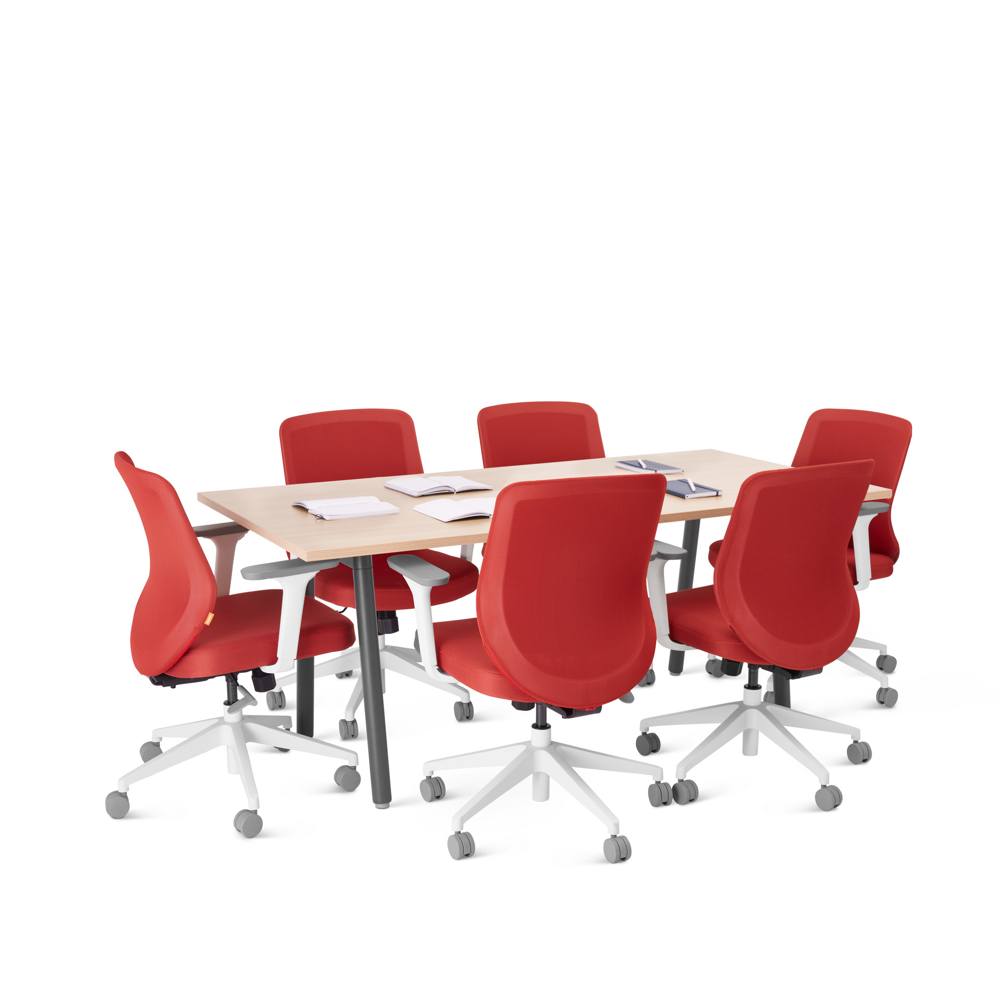 Series A Table X Natural Oak Charcoal Modern Office - 72 x 36 conference table