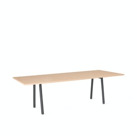 "Series A Conference Table, Natural Oak, 96x42"", Charcoal Legs"