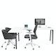 Series A Corner Desk, White with Charcoal Base, Left Handed,,hi-res