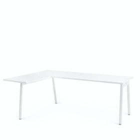 Series A Corner Desk, White with White Base, Left Handed,,hi-res