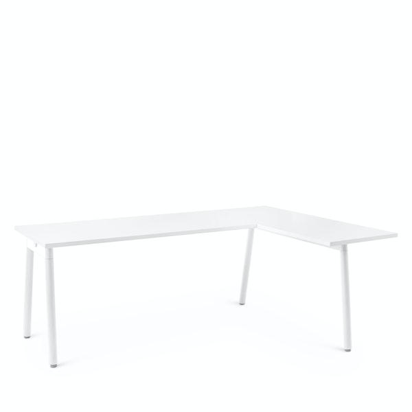 Series A Corner Desk, White with White Base, Right Handed,,hi-res