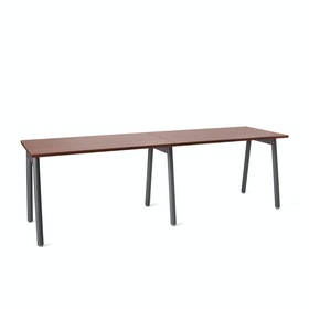 "Series A Single Desk Add On, Walnut, 47"", Charcoal Legs"