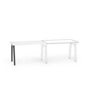 "Series A Single Desk Add On, White, 47"", Charcoal Legs"