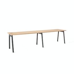 "Series A Single Desk Add On, Natural Oak, 57"", Charcoal Legs"