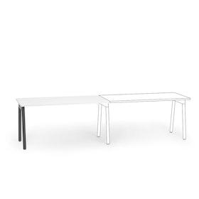 Series A Single Desk Add On, Charcoal Legs