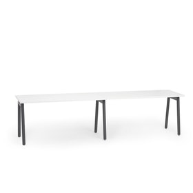 "Series A Single Desk Add On, White, 57"",  Charcoal Legs"