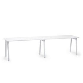 "Series A Single Desk Add On, White, 57"", White Legs"