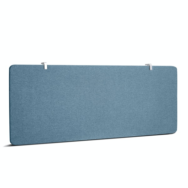 "Slate Blue Pinnable Fabric Panel, 45 x 17.5"" with Modesty Edge Clips,Slate Blue,hi-res"