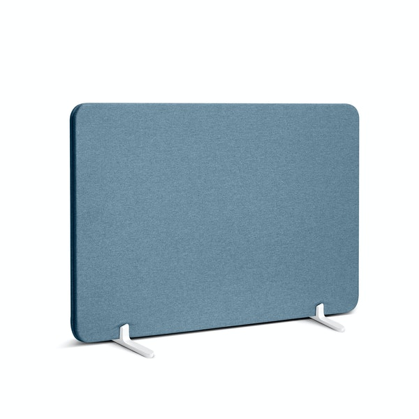 "Slate Blue Pinnable Fabric Privacy Panel, 27 x 16.5"", Footed,Slate Blue,hi-res"