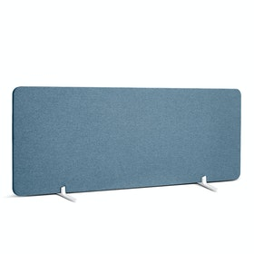 "Slate Blue Pinnable Fabric Privacy Panel, 45 x 17.5"", Footed"