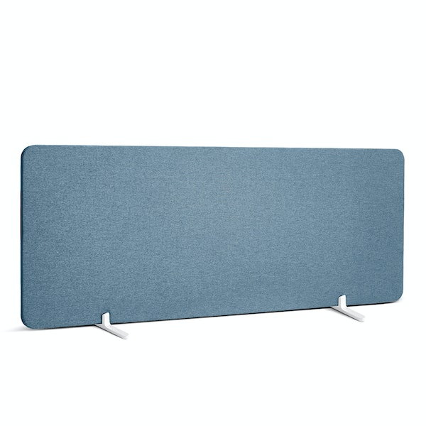 """Slate Blue Fabric Privacy Panel, Footed, 45"""",Slate Blue,hi-res"""