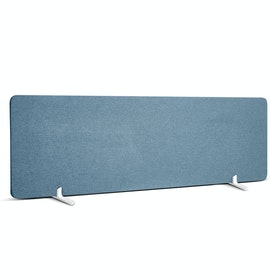 """Slate Blue Fabric Privacy Panel, Footed, 55"""""""