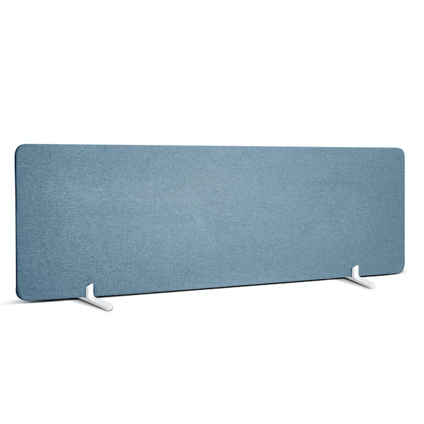"""Slate Blue Fabric Privacy Panel, Footed, 55"""",Slate Blue,hi-res"""