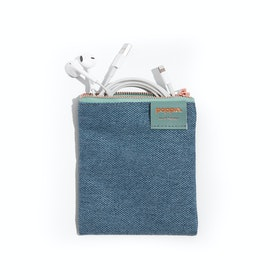 Slate Blue Medium Cord Pouch,Slate Blue,hi-res