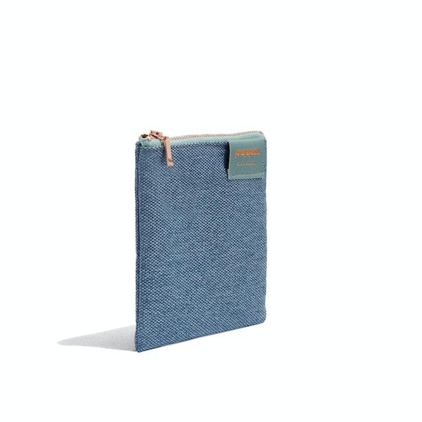 Slate Blue Medium Cord Pouch,Slate Blue,hi-res