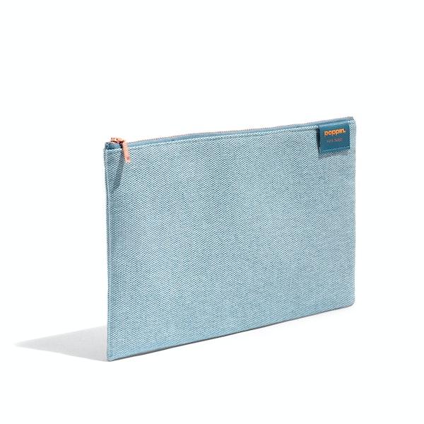 Steel Blue Large Slim Pouch,Steel Blue,hi-res