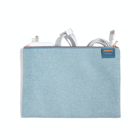 Steel Blue Large Slim Pouch