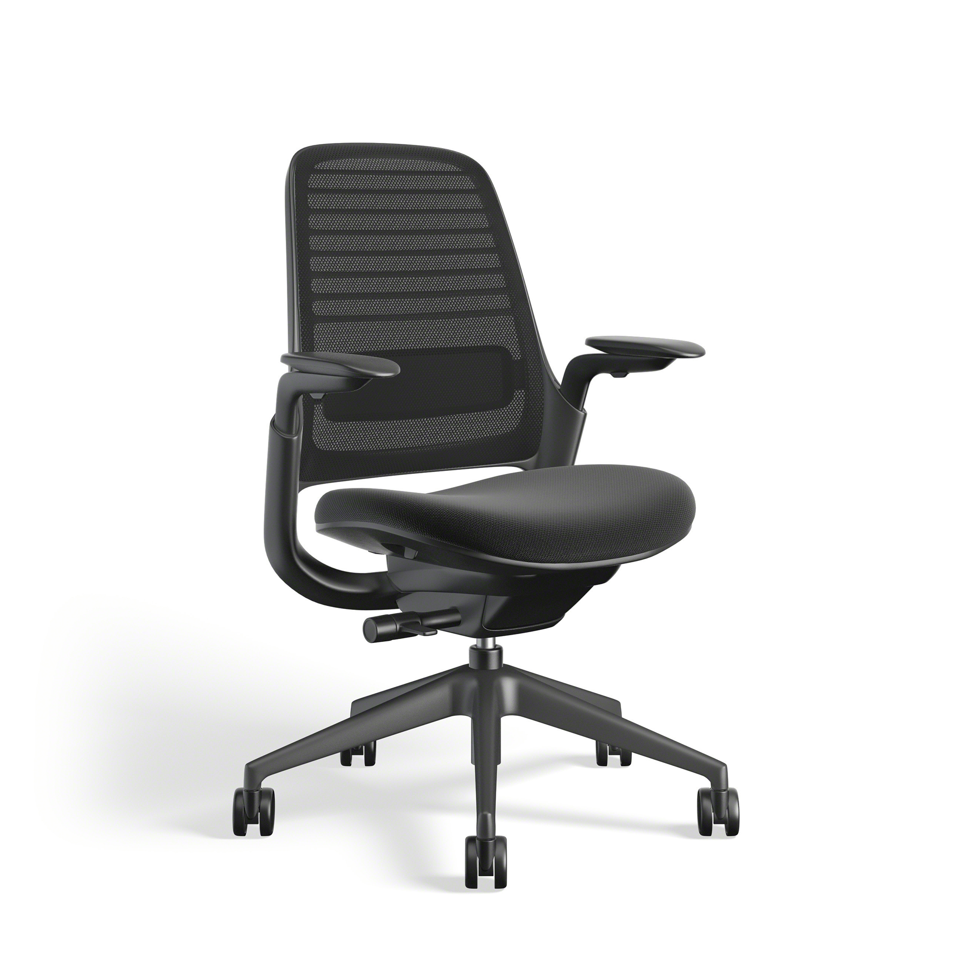 Black Steelcase Series 1 Chair Black Frame Office Furniture Poppin