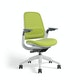 Lime Green Steelcase Series 1 Chair, White Frame,Lime Green,hi-res
