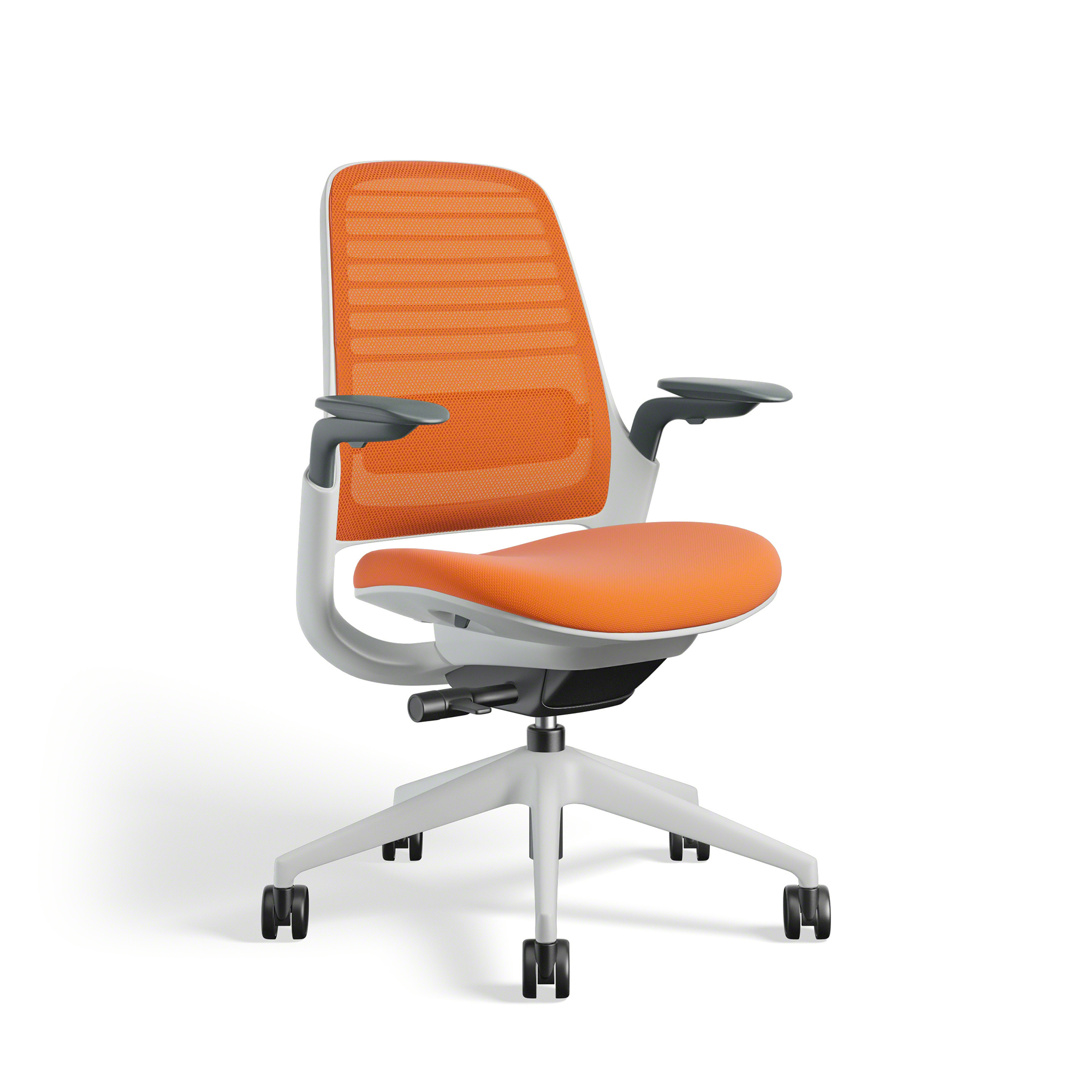 Orange Steelcase Series 1 Chair White Fame Office Furniture Poppin