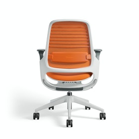 Orange Steelcase Series 1 Chair, White Fame