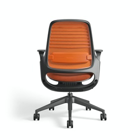 Orange Steelcase Series 1 Chair, Black Frame